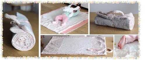 Tutoriel DIY débutant de tapis nomade pour bébé en tissu