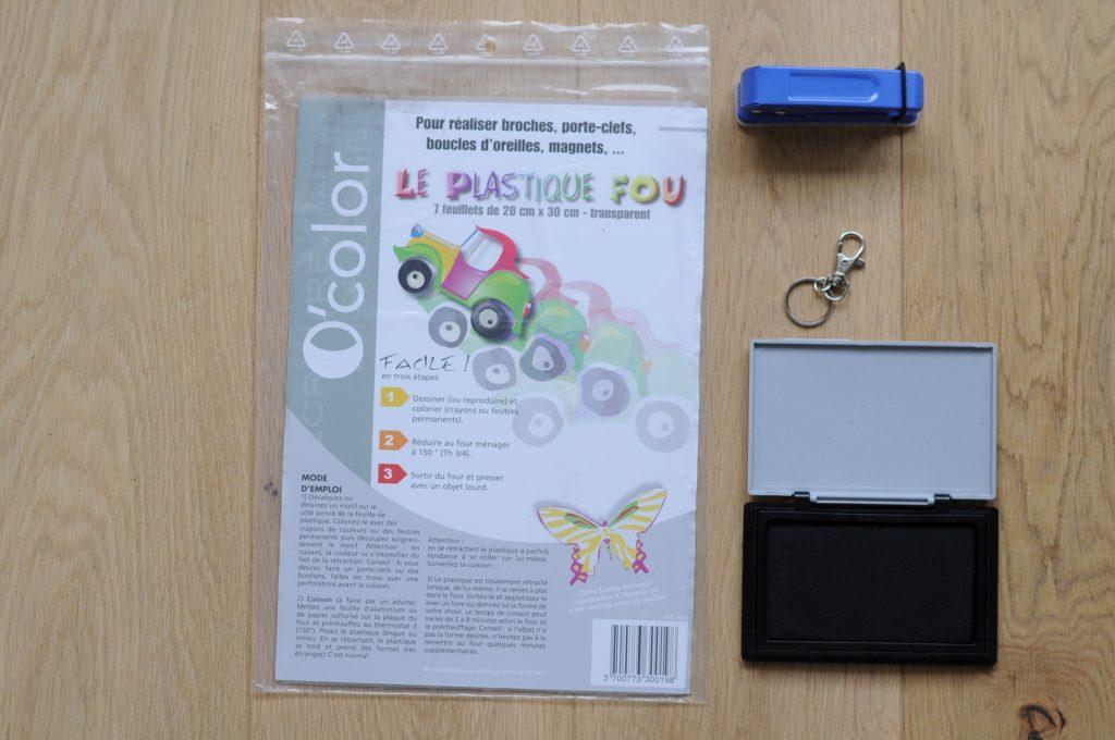 Porte-clé en plastique dingue pour la fête des pères