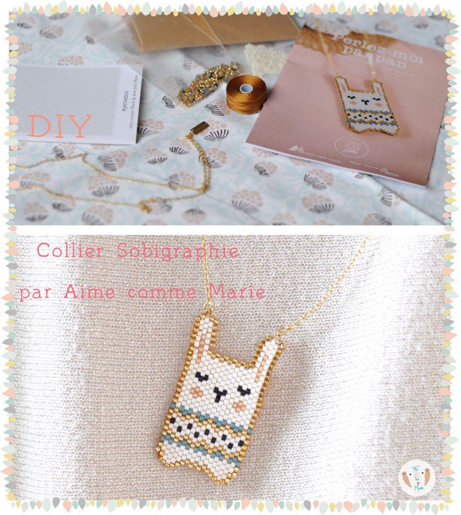 Kit DIY collier lapin en perles Miyuki par Sobigraphie et Aime comme Marie