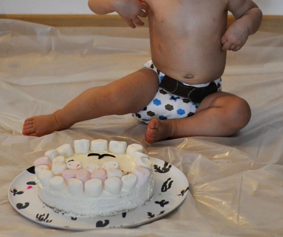 Un gâteau d'anniversaire pour les 1 an à détruire