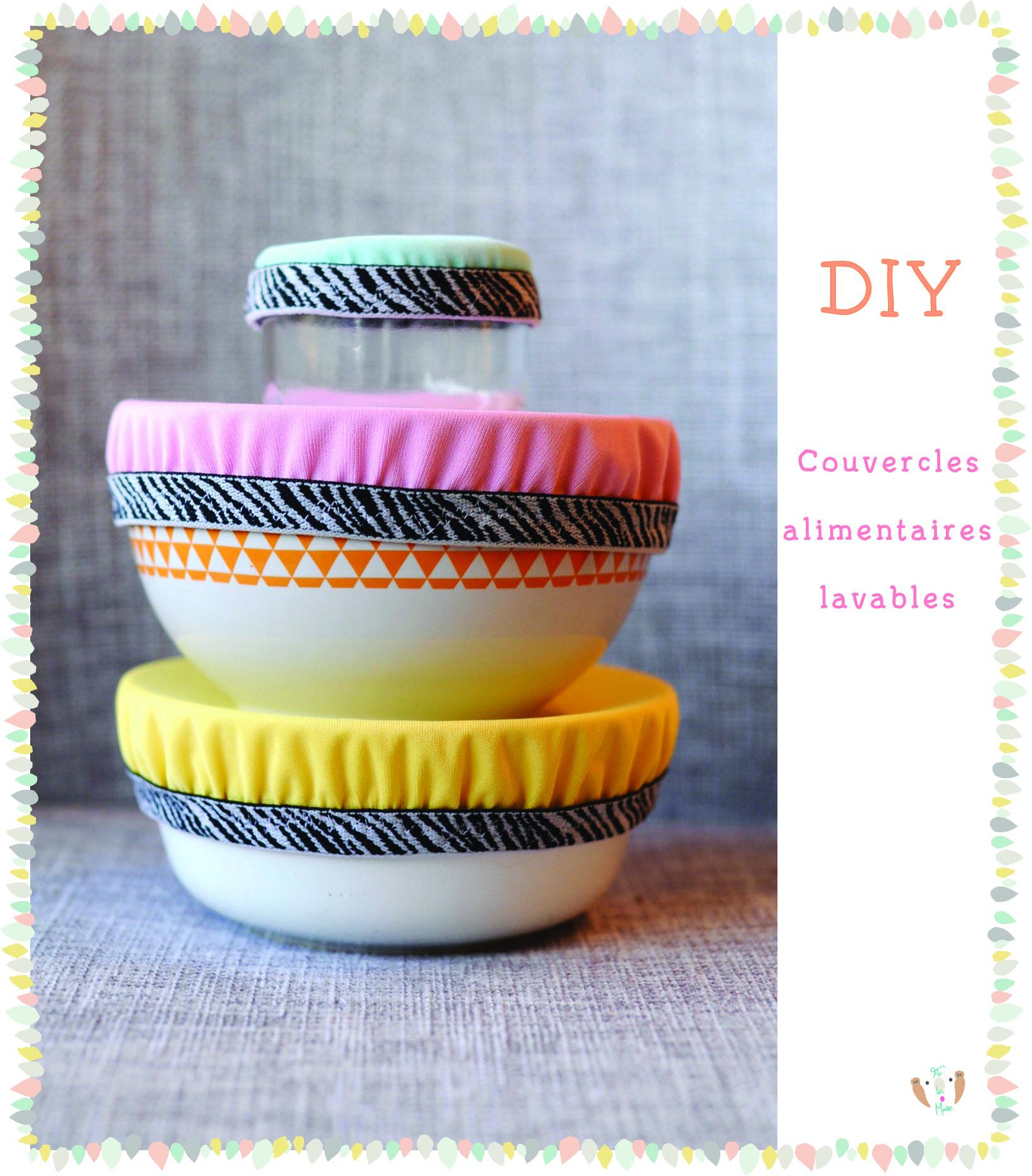 Tuto Zéro déchet pour fabriquer soi-même des couvercles alimentaires de bols en tissu imperméable, lavables et réutilisables