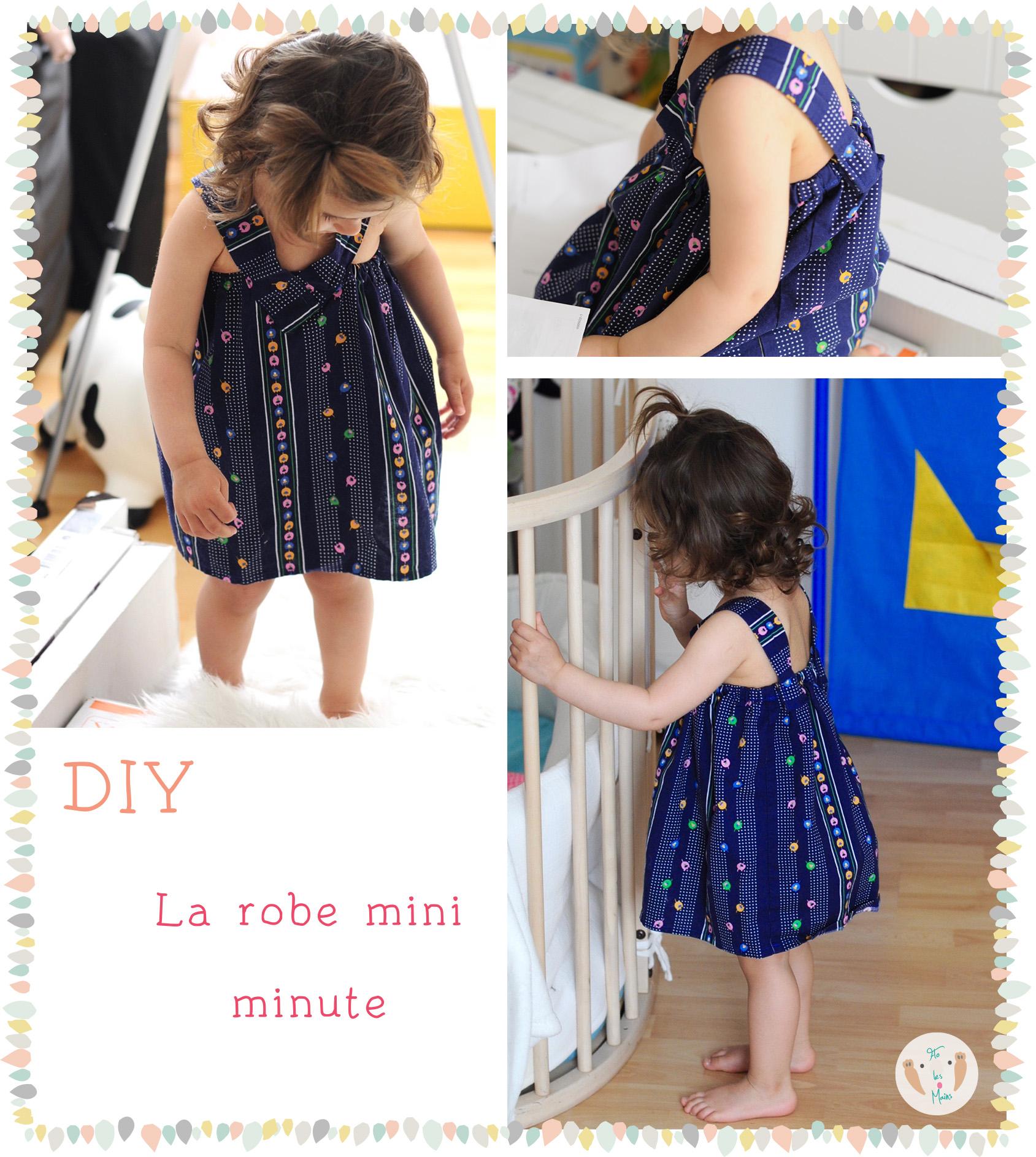 La robe mini minute 2 8 ans flo les mains blog diy for Coudre a 8 ans
