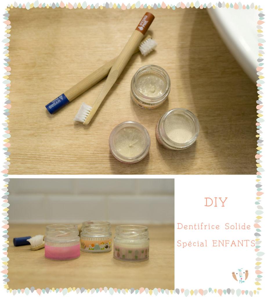 recette dentifrice solide spécial enfants avec savon de marseille
