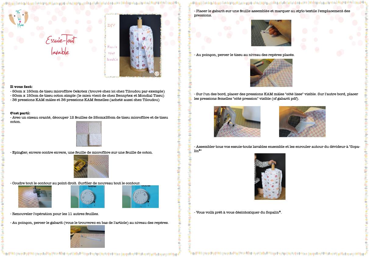 Fabriquer Un Porte Essuie Tout essuie-tout lavable - flo les mains - blog diy - Éducation